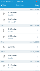 week 1 runkeeper