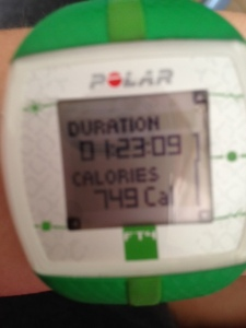 Stats from a 7-Mile run!