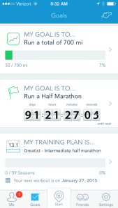 I have selected a goal race, as well as a training plan!