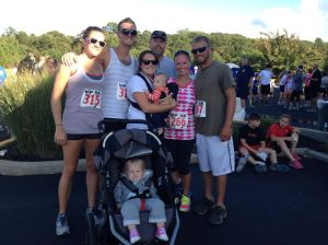 A group of us (including Kyle) at a local 5k