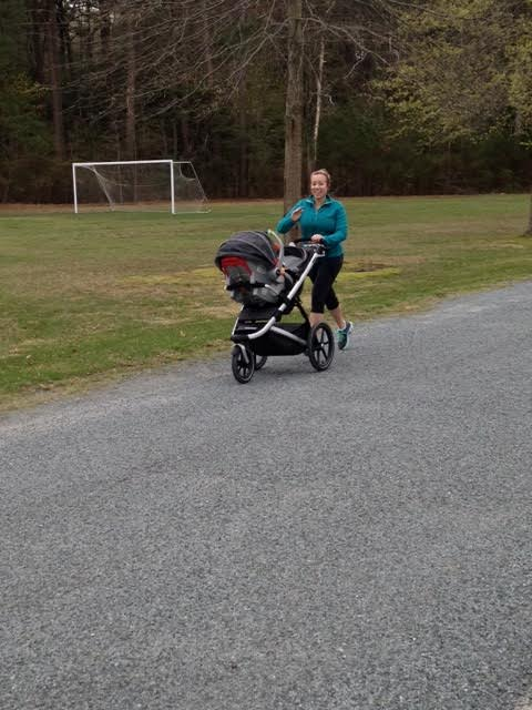 Courtney and stroller