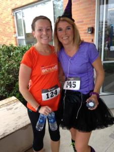 Fellow Mother Runner, Stephanie and me after the race!