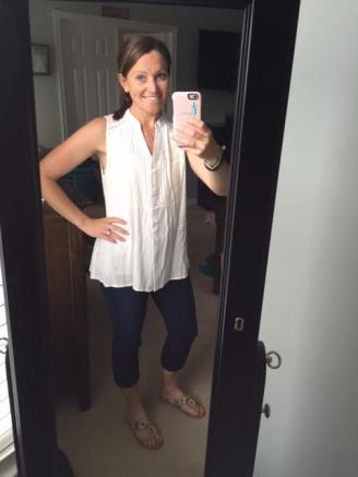 white blouse mirror