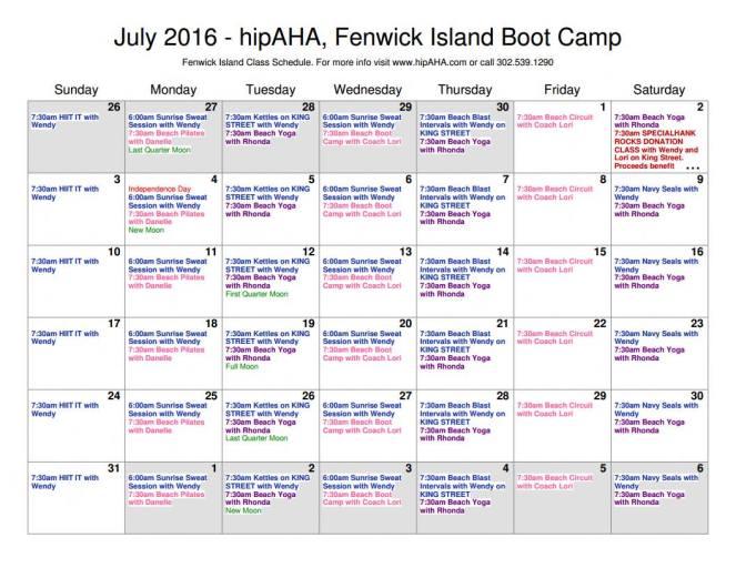 hipaha schedule