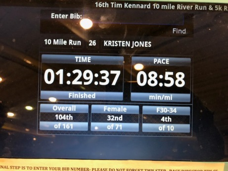 Tim Kennard Ten Miler Finish Time